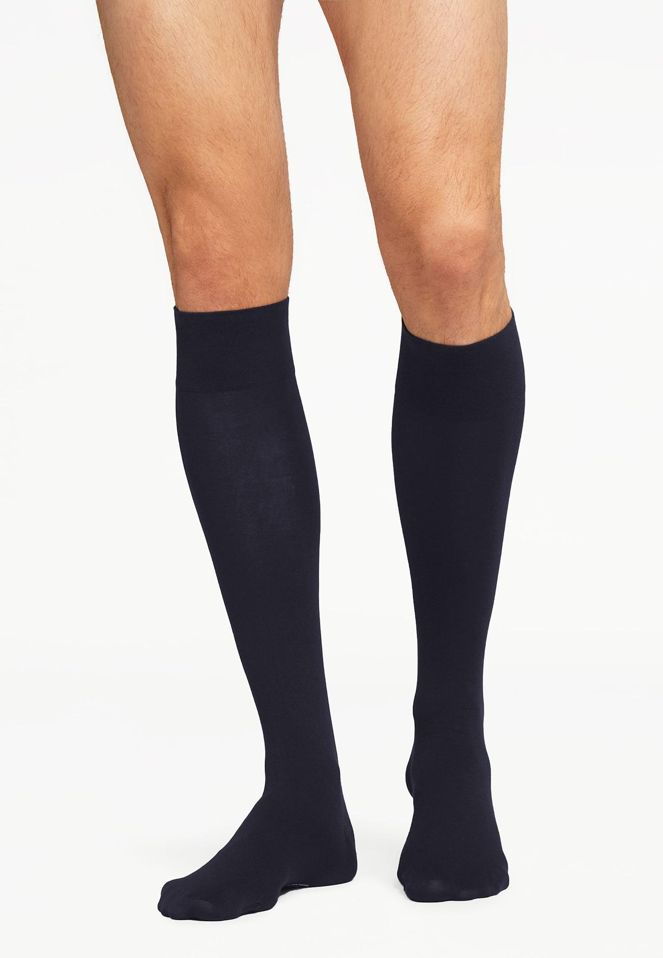 31066 Cotton Velvet Knee-Socks